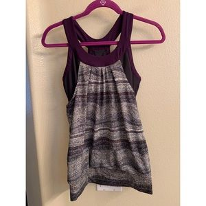 Workout tank top with built in sports bra
